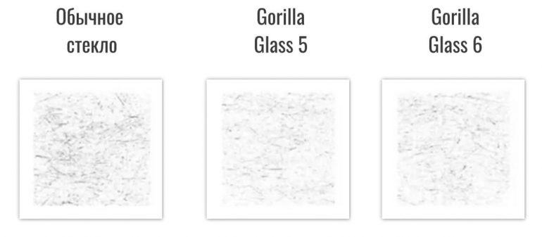 Сравнение Gorilla Glass 5 и 6
